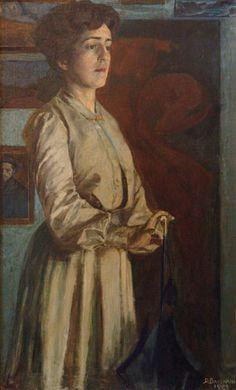 Baccarini - 'L'Attesa' - 1903 - Ritratto della sorella Giovanna - oil