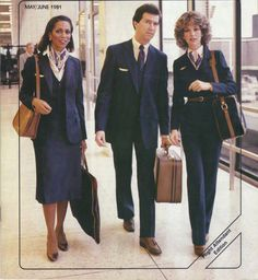 Airlines Past & Present: United Airlines Stewardess Flight Attendant Brochures & Vintage Uniforms