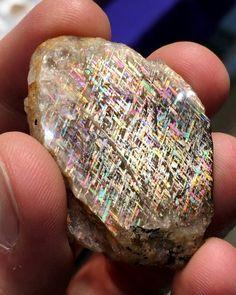 "Rainbow Lattice Sunstone from ""Rainbow Serpent Mine"" Northern Territory, Australia"