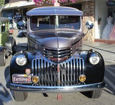 Serious Chrome On This Front Grill Make This 1946 Chevrolet Chevy Panel Truck Stand Out by trail trekker, via Flickr