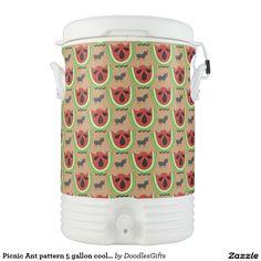 Picnic Ant pattern 5 gallon cooler Igloo Beverage Dispenser