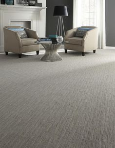 Beige carpet featuring striated pattern - Photo courtesy of Milliken