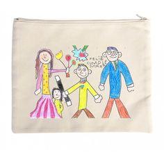 Bolso tote bag para regalar a mamá a la abuela, a la madrina o a esa tia molona,  con las firmas de sus niños, con un dibujo hecho por elllos o lo que se te ocurra.