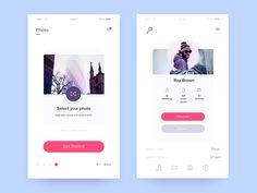 App Screens by Zaib Ali - Dribbble Motion App, Ios Ui, Mobile Web Design, Daily Ui, Screen Design, Ui Inspiration, User Interface Design, Profile Design, Mobile Ui