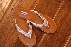 sparkly flip flops from Francescas