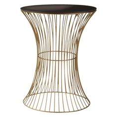 Wire Accent Table $55.99 from Target. Platner-esque