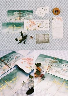 Beautiful earthy watercolor stationery