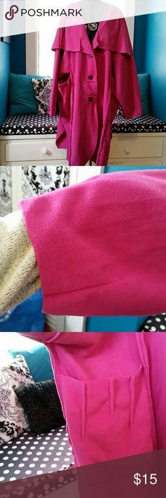 Lotus traders Raspberry fleece coat winters coming Great coat lots of details mid weight fleece. Runs big!!! lagenlook Jackets & Coats
