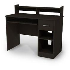 Black Finish Compact Student Desk