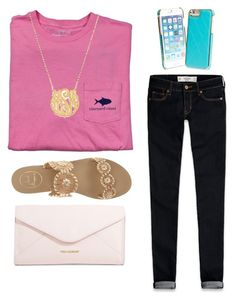 """Vineyard vines tag"" by a-little-prep-in-your-step ❤ liked on Polyvore featuring Abercrombie & Fitch, Vineyard Vines, Jack Rogers, Vera Bradley, women's clothing, women, female, woman, misses and juniors"