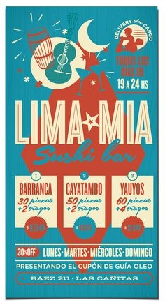 Lima Mia · Peruvian Sushi Bar by Federico Vila, via Behance