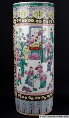 China 20. Jh. Bodenvase A Chinese Famille Rose Sleeve Vase - Vaso Cinese Chinois