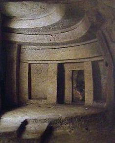The Hypogeum of Hal Saflieni in Tarxien, Malta    Carved from solid rock. When discovered it contained the bodies of over 7,000 people. It is at least three storeys deep, and contains rock-cut features such as a 'speaking chamber', trilithons, lintelled-doorways, a large cistern and a 'holy of holies' surrounded by 'embryonic' chambers.  The Hypogeum is one of the greatest remaining structures from prehistory. Its pristine condition allows us to see the past through the eyes of our…