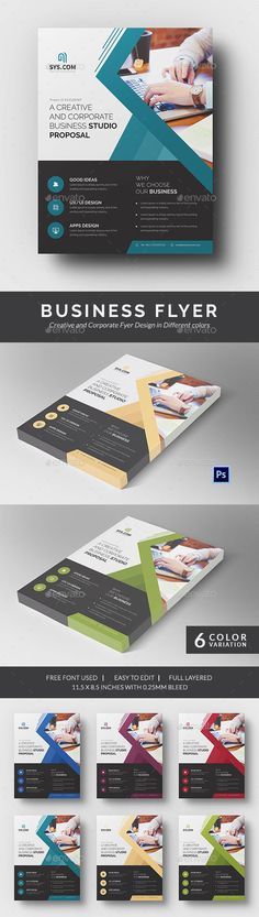 Buisness Flyer Template PSD