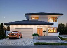 Projekt domu Karat 2 162,51 m² - koszt budowy - EXTRADOM Modern Family House, Modern Bungalow House, Family House Plans, Bedroom House Plans, Modern House Plans, Modern House Design, Home Building Design, Home Design Plans, Building A House