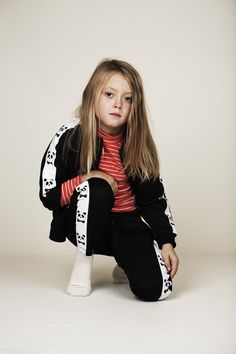 Chaqueta de Mini Rodini. Little Dresses, Retro, Fishnet, Panda, Bomber Jacket, Sporty, Jackets, Clothes, Black