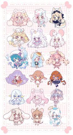 [C] Mini Chibi Commissions 01 by Squishibear on DeviantArt Cute Anime Chibi, Kawaii Chibi, Kawaii Art, Kawaii Anime Girl, Kawaii Doodles, Chibi Girl Drawings, Anime Drawings Sketches, Cute Drawings, Art Manga