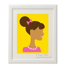 Hey, I found this really awesome Etsy listing at https://www.etsy.com/listing/114593745/girl-in-pink-with-afro-puff-customized