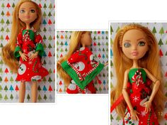 Monster Doll Christmas Dress EAH Doll Dress by FAIRLYGHOULISH