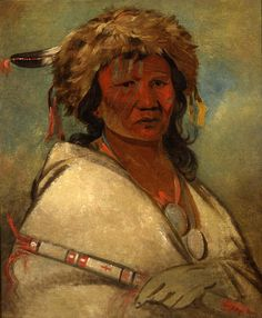 Great Hero, a Chief by George Catlin kp Native American Men, Native American Photos, American Art, Native Indian, Native Art, Indian Face, Mountain Man, First Nations, Face Art