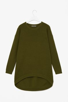 Curved hem wool jumper from COS - for adults but I would like to make one similar for my kid