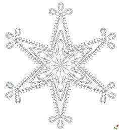 ВЯЖЕМ СНЕЖИНКИ КРЮЧКОМ - ПОДБОРКА...Snowflake...