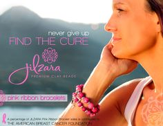 Jilzara donates a portion of proceeds to the American Breast Cancer Foundation.