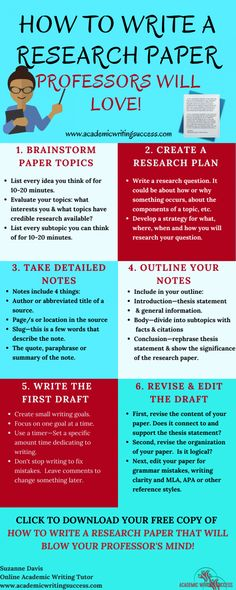 How to Write a Research Paper Professors Will Love - Academic Writing Success