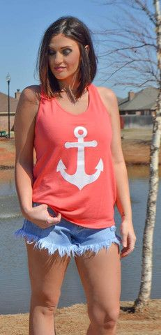 anchor my soul tank with cute bow detail on back..swoon!!