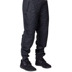 d4e67bf0c2cd Air Jordan Quilted Joggers Heather gray  black Tapered design reduces bulk  for a slim