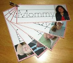 Great idea! Make a family name tracing book.