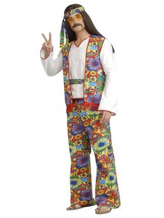Check out Hippie Man Adult Costume - Wholesale 60s Mens Costumes from Wholesale Halloween Costumes