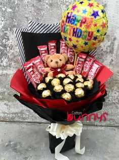 Order or enquiry's please Whatsapp us No : We provide delivery for Penang Kedah Kl Selangor (Selected Area) Candy Bouquet Diy, Flower Bouquet Diy, Gift Bouquet, Cute Birthday Gift, Birthday Candy, Candy Gift Baskets, Candy Gifts, Homemade Gift Boxes, Chocolate Bouquet Diy