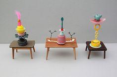tiny table-sculptures