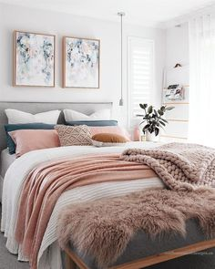 Ten Cozy Beds That Will Make You Forget How Cold It Is - Living After Midnite White Pink Feminine Bedroom Inspiration Cozy Beds Scandinavian Bedroom Decor, Home Decor Bedroom, Living Room Decor, Bedroom Furniture, Bedroom Designs, Cozy Bedroom, Cozy Master Bedroom Ideas, Bedroom Romantic, Bedroom Red