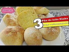 PÃO DE LEITE NINHO COM 3 INGREDIENTES com CozinhandoComNane :) - YouTube