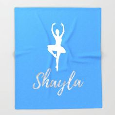 Personalized Dance Gifts For Her Birthday, Dance Teacher Gifts, Fleece Blanket Baby, Ballerina Nursery Decor, Custom Blanket