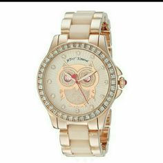 Betsy Johnston rose gold watch Rose gold. 14k Diamond face  Worn twice Betsey Johnson Accessories Watches
