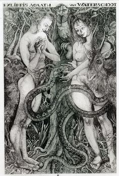Oleg Yakhnin. Inspiration for Adam - Eve needlepoint