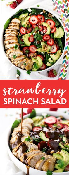 Put those amazingly fresh and in-season strawberries to good use in this super Simple Strawberry Spinach Salad! Ready in under 30 minutes! Just click through to get the full recipe or repin to save it for later! | asimplepantry.com