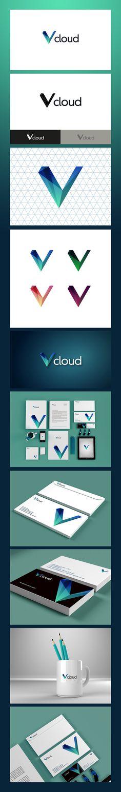 Vcloud visual identity | #stationary #corporate #design #corporatedesign #logo #identity #branding #marketing <<< repinned by an #advertising agency from #Hamburg / #Germany - www.BlickeDeeler.de | Follow us on www.facebook.com/BlickeDeeler