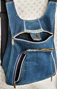 Рюкзаки ручной работы. Ярмарка Мастеров - ручная работа. Купить Рюкзак  молодежный. Handmade. Синий, молодежный стиль, подарок a4d64fff039