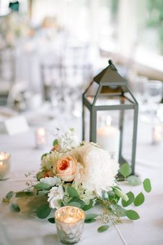 Lantern Centerpiece with Candle | photography by http://www.jacquicole.com