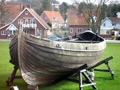 "Viking Ship Museum, Roskilde. ""Ottar"" is a reproduction of Skuldelev 1, a  knarr."
