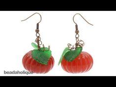 How to Make Lucite Pumpkin Earrings - http://videos.silverjewelry.be/anklets/how-to-make-lucite-pumpkin-earrings/