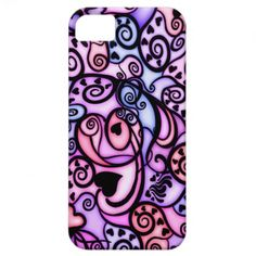 Heart Beats Singing, Stained Glass style iPhone 5 Covers.  $42.30