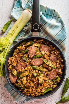 Jambalaya Fried Rice - Use cajun seasonings with smoked sausage and okra to…