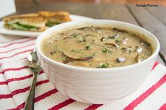 Best Ever Mushroom Soup | www.PancakeWarriors.com. I can make this low carb. Xanthum gum & heavy cream