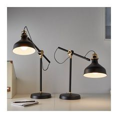 RANARP Work lamp with LED bulb, black