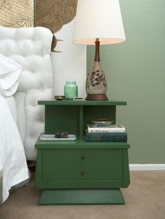 Old End Table Painted -22 Cleverly Repurposed and Revamped Coffee and End Tables: Home Improvement